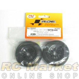 RIDE 26041F1 Rubber Tires Front Pre-Glued ( Type GR-X)