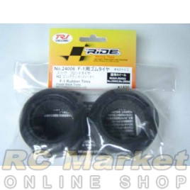 RIDE 24006 F-1 Rubber Tires (Front Slick Tires) H2 Compound (Hard)
