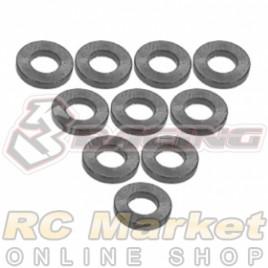 3RACING 3RAC-WF310/TI Aluminium M3 Flat Washer 1.0mm - 10 pcs - Titanium