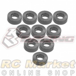 3RACING 3RAC-WF320/TI M4 Aluminium M3 Flat Washer 2.0mm - 10 pcs - Titanium