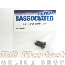 ASSOCIATED 92071 B64 Input Shaft, 17T