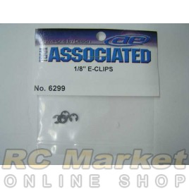 ASSOCIATED 6299 E-Clips, 1/8 in