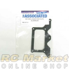 ASSOCIATED 4717 RC12R6 Lower Pod Plate, Aluminum