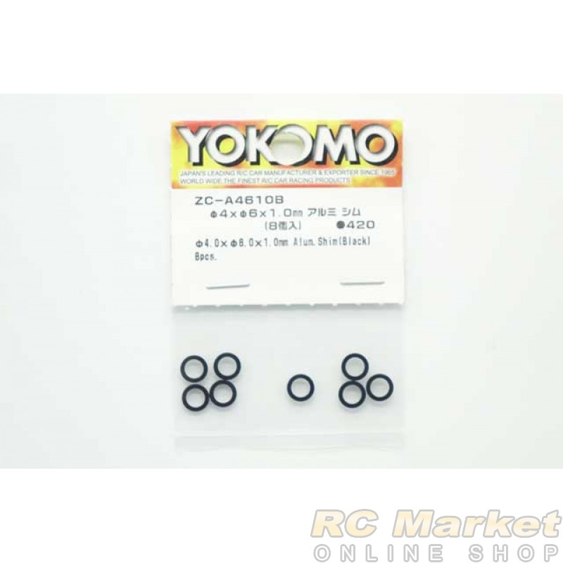 YOKOMO ZC-A4610B Φ4xΦ6x1.0mm Aluminum Shim