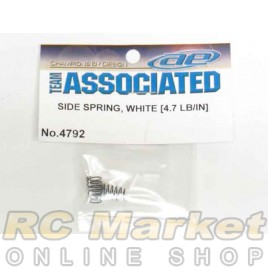 ASSOCIATED 4792 RC10F6 Side Springs, White, 4.7 lb/in