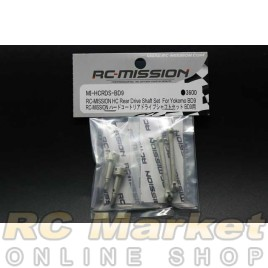 RC MISSION MI-HCRDS-BD9 Rear Hard Coated ALu Drive Shaft Set for BD9/BD10