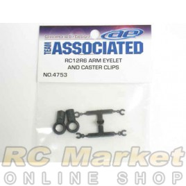ASSOCIATED 4753 RC12R6 Arm Eyelets and Caster Clips