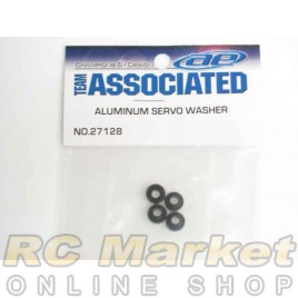 ASSOCIATED 27128 Servo Washers, Black Aluminum