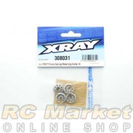 XRAY 308031 T4 Alu Xray Shock Spring Retaining Collar (4)