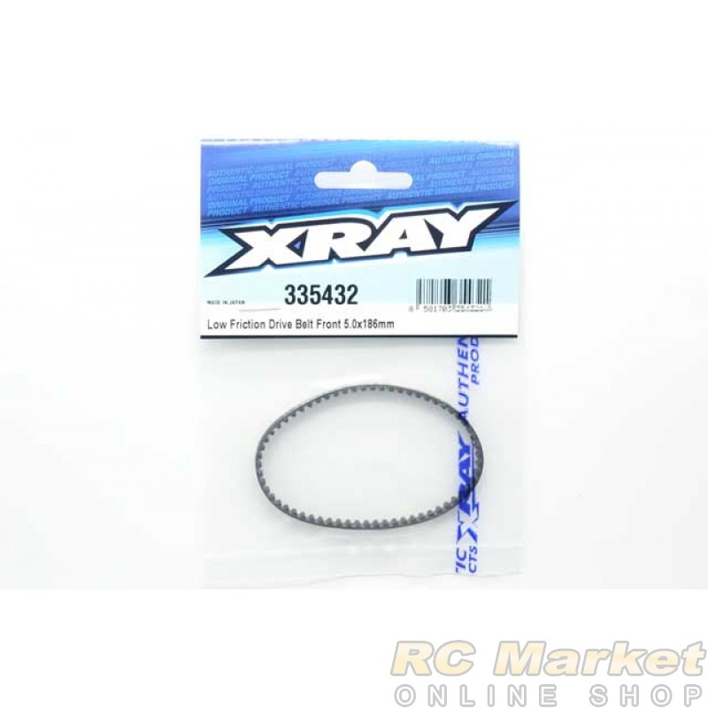 XRAY 335432 NT1 Low Friction Drive Belt Front 5.0 X 186mm