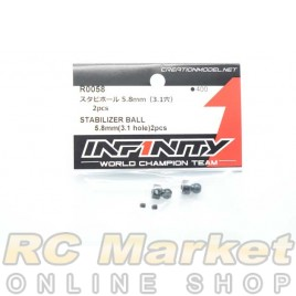 INFINITY R0058 IF18 Stabilizer Ball 5.8mm (3.1 Hole) 2pcs
