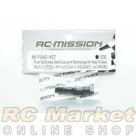 RC MISSION MI-FSAC-XST Front Solid Axle Steel Cup Joint Strong Type for Xray T4 2pcs