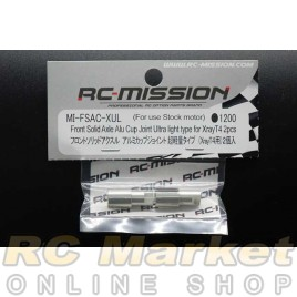 RC MISSION MI-FSAC-XUL Front Solid Axle Alu Cup Joint Ultra Light Type For Xray T4 2Pcs