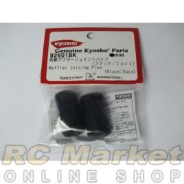 KYOSHO 92601BK Muffler Joining Pipe (Black/2pcs)