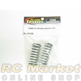 ASSOCIATED 91328 FT 12 mm Front Springs, White, 3.30 lb