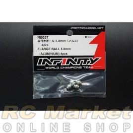 INFINITY R0057 IF18 Flange Ball 5.8mm (Aluminium) 4pcs