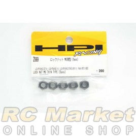 HPI Z669 Locknut M6 Thin Type (5)