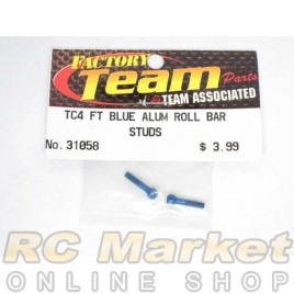 ASSOCIATED 31058 FT Anti-Roll Bar Ballstuds, Blue