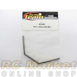 ASSOCIATED 31261 FT Roll Bars, 1.25 mm, Black