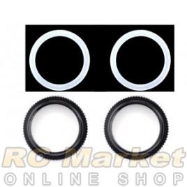 SERPENT 600158 Adjust Nut Shock / O-Ring (2)