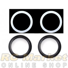 SERPENT 600158 Adjust Nut Shock / O-Ring (2)