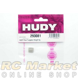 HUDY 293081 Pure Tungsten Weight 5g