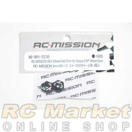 RC MISSION MI-WH-SE50 Hex Wheel Hub 5mm For Sweep Exp Wheel and Volante Wheel 2pcs