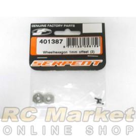 SERPENT 401387 Wheelhexagon 1mm Offset (2)