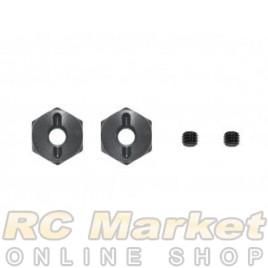 SERPENT 801218 Wheel Hexagon Alu 0mm (2)