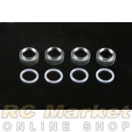 SERPENT 909405 Shock Adjusting Nut Alu. + O-Rings (4)