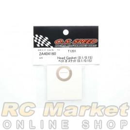 O.S. SPEED 2A404160 Head Gasket (0.1/0.15) T1201