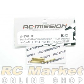 RC MISSION MI-SS22-TI Shock Shaft 3x22mm Ti-Coated For XRAY T4 ULP Shock