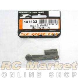 SERPENT 401433 Weight Set Brass 5gr - 12gr - 20gr (2+1+1)