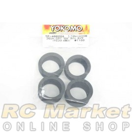 """YOKOMO TF-4662SA Front CRT """"SA"""" Rubber Tire (T-Pink/4pcs) for 1/12 Racing"""