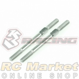 3RACING 3RAC-TR340 64 Titanium 3mm Turnbuckle - 40mm (2pcs)