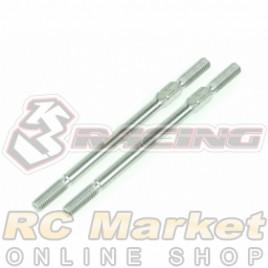 3RACING 3RAC-TR352 64 Titanium 3mm Turnbuckle - 52mm (2pcs)