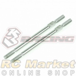3RACING 3RAC-TR355 64 Titanium 3mm Turnbuckle - 55mm (2pcs)