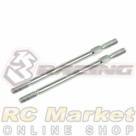 3RACING 3RAC-TR358 64 Titanium 3mm Turnbuckle - 58mm (2pcs)