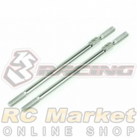 3RACING 3RAC-TR362 64 Titanium 3mm Turnbuckle - 62mm (2pcs)