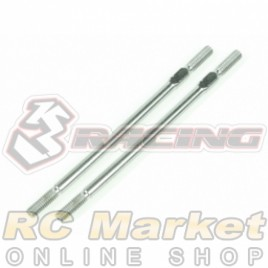 3RACING 3RAC-TR365 64 Titanium 3mm Turnbuckle - 65mm (2pcs)