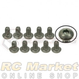 3RACING TS-BSM203M M2 x 3 Titanium Button Head Hex Socket - Machine (10pcs)