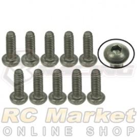 3RACING TS-BSM206M M2 x 6 Titanium Button Head Hex Socket - Machine (10pcs)