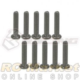 3RACING TS-BSM2612M M2.6 x 12 Titanium Button Head Hex Socket - Machine (10pcs)