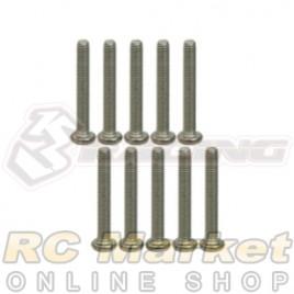 3RACING TS-BSM2618M M2.6 X 18 Titanium Button Head Hex Socket - Machine (10pcs)