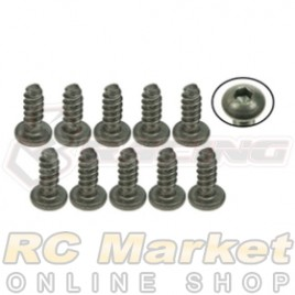 3RACING TS-BSM308S M3 x 8 Titanium Button Head Hex Socket - Self Tapping (10pcs)