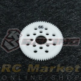3RACING 3RAC-SG4866 48 Pitch Spur Gear 66T