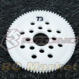 3RACING 3RAC-SG4873 48 Pitch Spur Gear 73T
