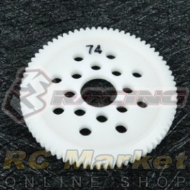 3RACING 3RAC-SG4874 48 Pitch Spur Gear 74T