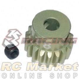 3RACING 3RAC-PG4818 48 Pitch Pinion Gear 18T (7075 w/Hard Coating)