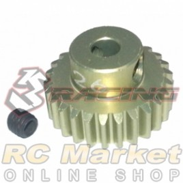 3RACING 3RAC-PG4826 48 Pitch Pinion Gear 26T (7075 w/Hard Coating)